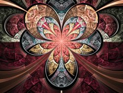 Stained glass style fractal flower